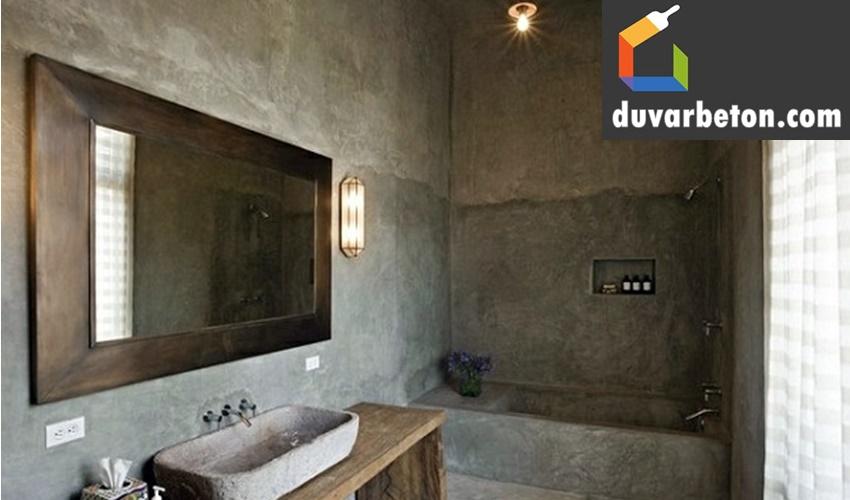 banyo-beton-gorunumlu-duvar-boyasi