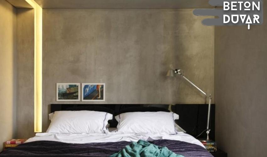 Betonart sıva duvar uygulaması brüt beton görünümü