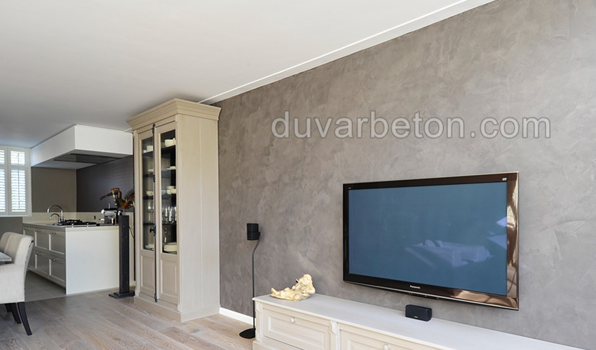 tv-duvari-beton-gorunumu-boya