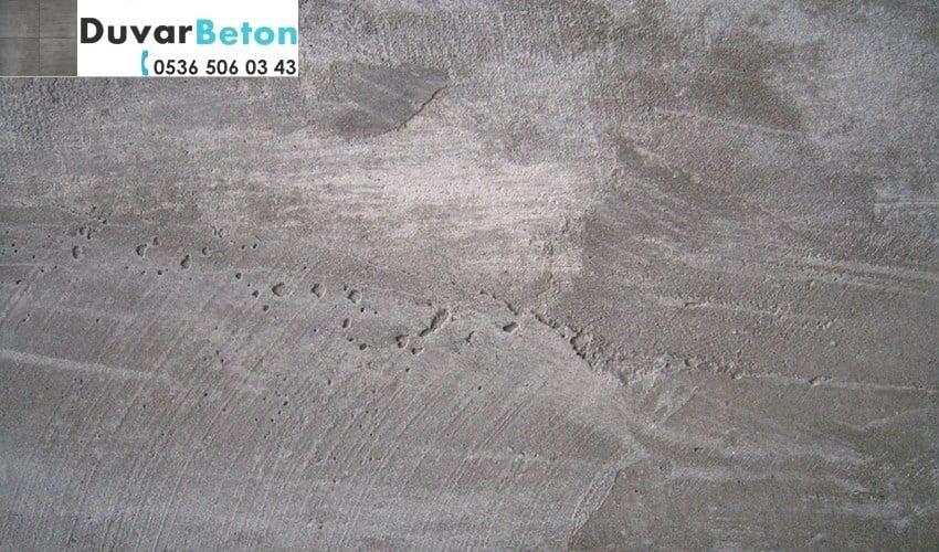 beton duvar sıva görünüm