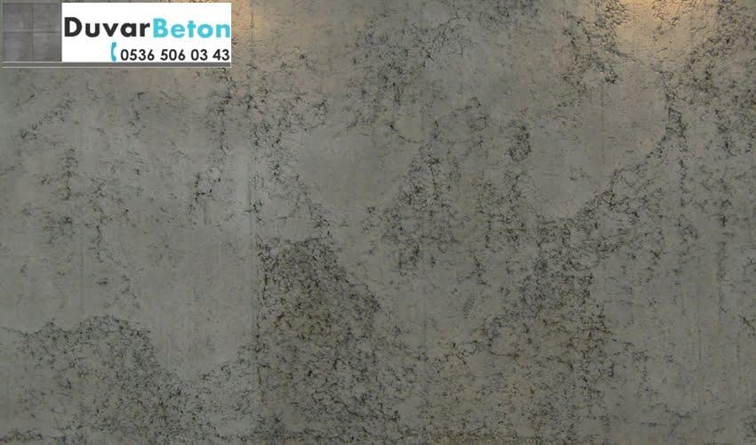 brüt beton görünümlü duvar sıva uygulama