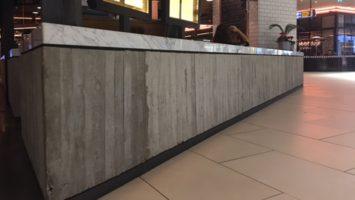 Restoran brüt beton duvar sıva uygulama
