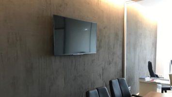 Ofis brüt beton duvar sıva