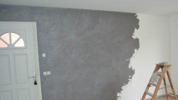 Beton renkli duvar boyası