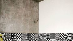 Mermer efekt boyalı duvarlar