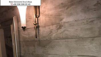 Duvarlarda beton sıva & Boya