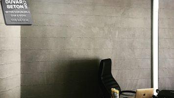 Ofis brüt beton duvar