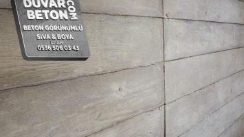Brüt beton sıva dekorasyonu