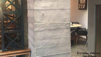 Beton renkli hazır sıva
