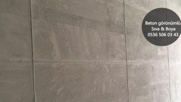 Beton Duvar Blok Görünümü