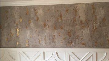 Altın varak & beton efektli sıva