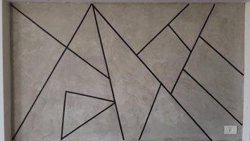 Duvarlarda beton görünüm