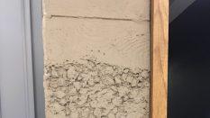 Beton sıva görünümlü duvar